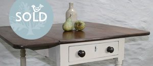 Pedran hand painted shabby chic  Pembroke Table