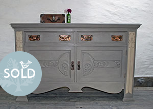 Pedran hand painted shabby chic  Arts and Crafts Sideboard/Dresser