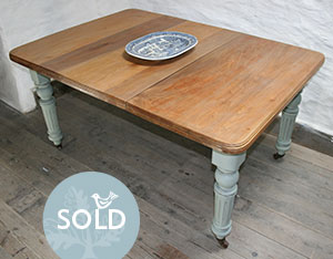 Pedran hand painted shabby chic  Victorian farmhouse Table