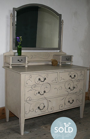 Pedran hand painted shabby chic  Dressing Table