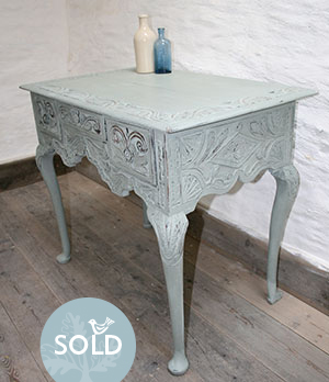 Pedran hand painted shabby chic  Rustic Oak Table