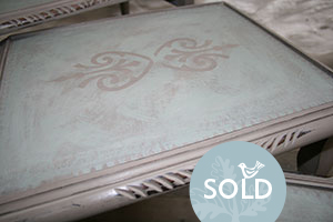 Pedran hand painted shabby chic  Nest of Tables