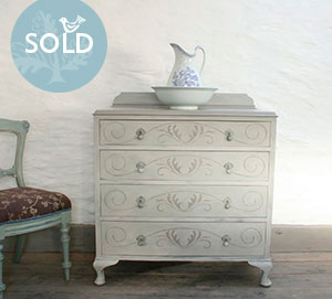 Pedran hand painted shabby chic  Pretty Painted Chest