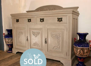 Pedran hand painted shabby chic sideboard