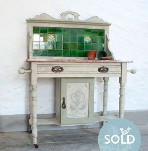 Pedran hand painted Edwardian washstand