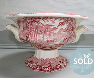 Pedran hand painted shabby chic  - Vintage finds - Mason's Peking Pedestal Bowl